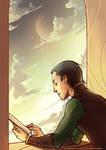 Loki: reading a book :3
