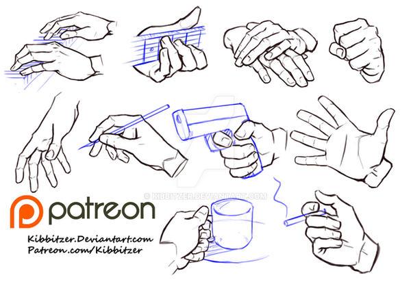 hands reference sheet 6 by kibbitzer on deviantart