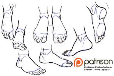Feet reference sheet 2