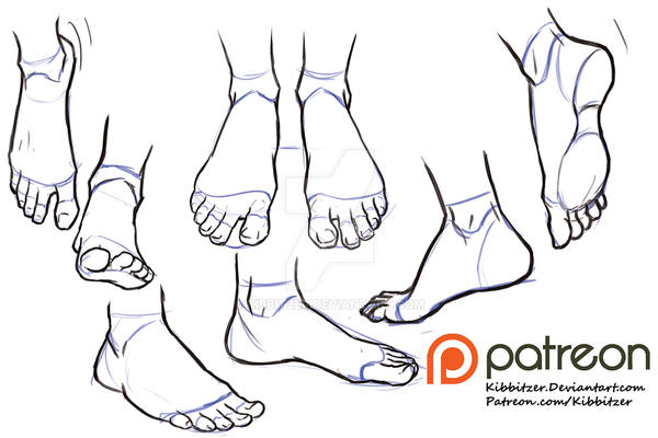 Feet Reference Sheet 2 By Kibbitzer On Deviantart