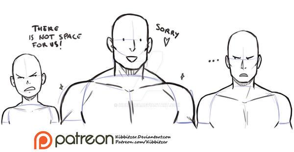 Shoulders reference sheet by Kibbitzer