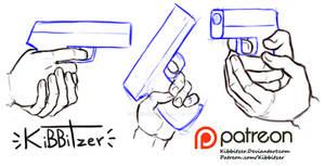 Holding gun reference sheet