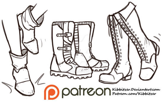 Shoes reference sheet 3