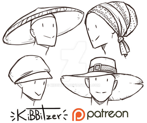 how to draw a floppy hat
