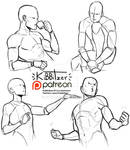 Random poses reference sheet