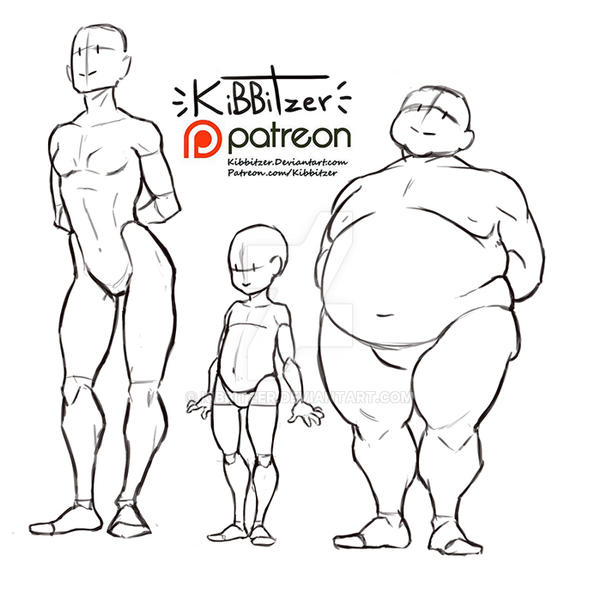 Body Types Reference Sheet By Kibbitzer On Deviantart