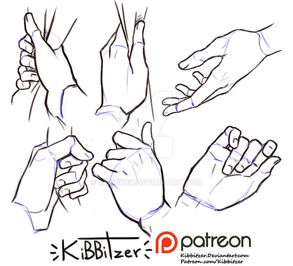 how to draw male hands