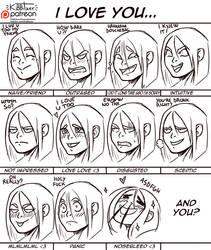 I LOVE YOU reactions by Kibbitzer