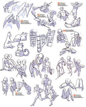 A LOT of free reference sheets XD