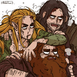 ~Legolas Aragorn and Gimli~