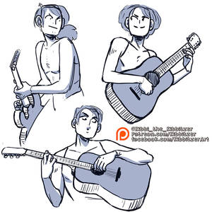 Playing guitar reference sheet -PREVIEW-
