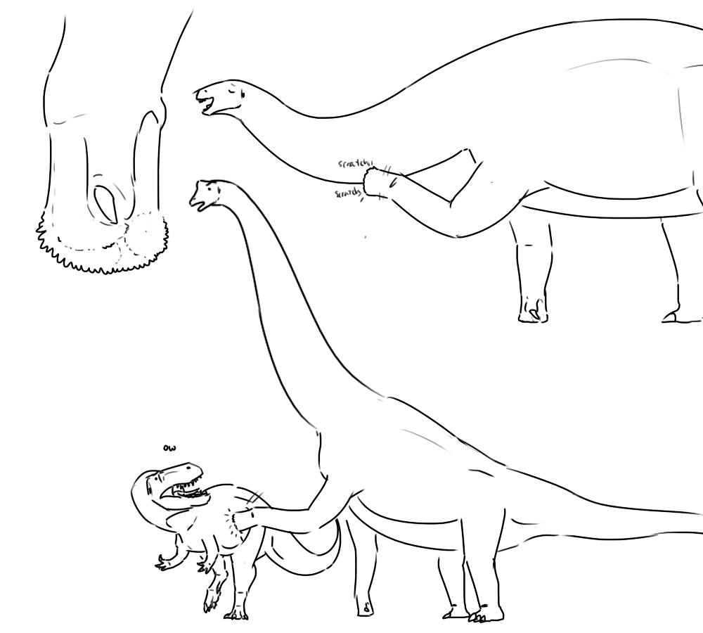 Sauropod Foot Scale Doodles by StygimolochSpinifer on ...