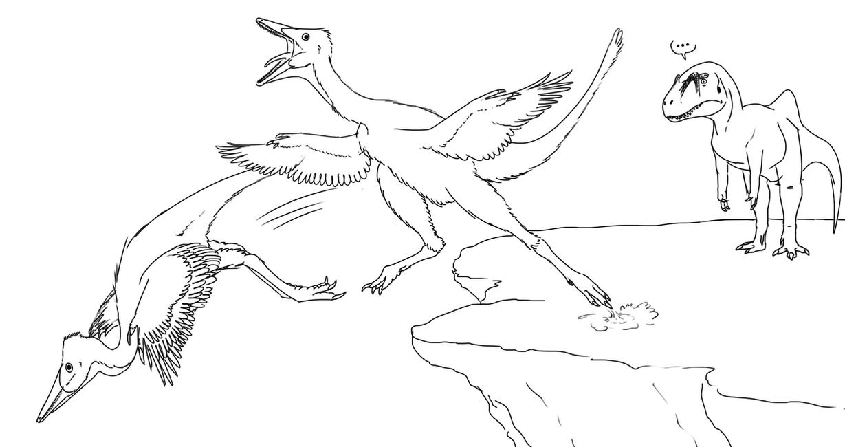 Volant Pelicanimimus by StygimolochSpinifer