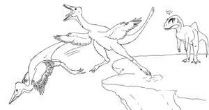Volant Pelicanimimus