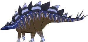 Blue Stegosaurus by StygimolochSpinifer