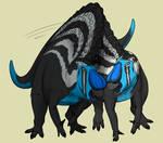 Fighting Ouranosaurus