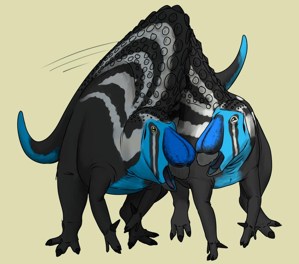 Fighting Ouranosaurus By Stygimolochspinifer On Deviantart