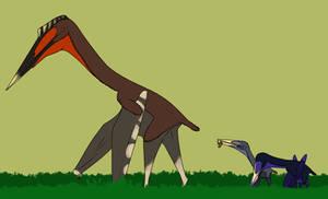 Hatzegopteryx and Two Eurazhdarcho