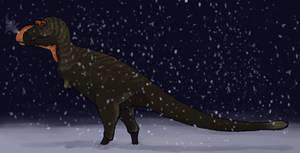 Albertosaurus in the Snow