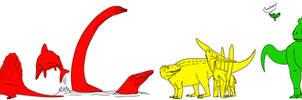 Dinosaurs and Non-Dinosaurs by StygimolochSpinifer
