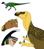 Ornithopods by StygimolochSpinifer
