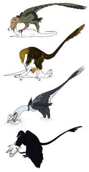 Dromaeosaur Predation Styles - Now in Technicolor