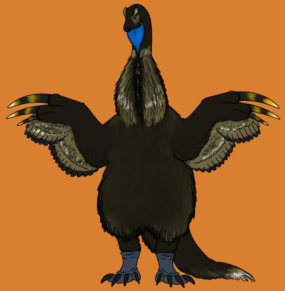 Displaying Therizinosaurus