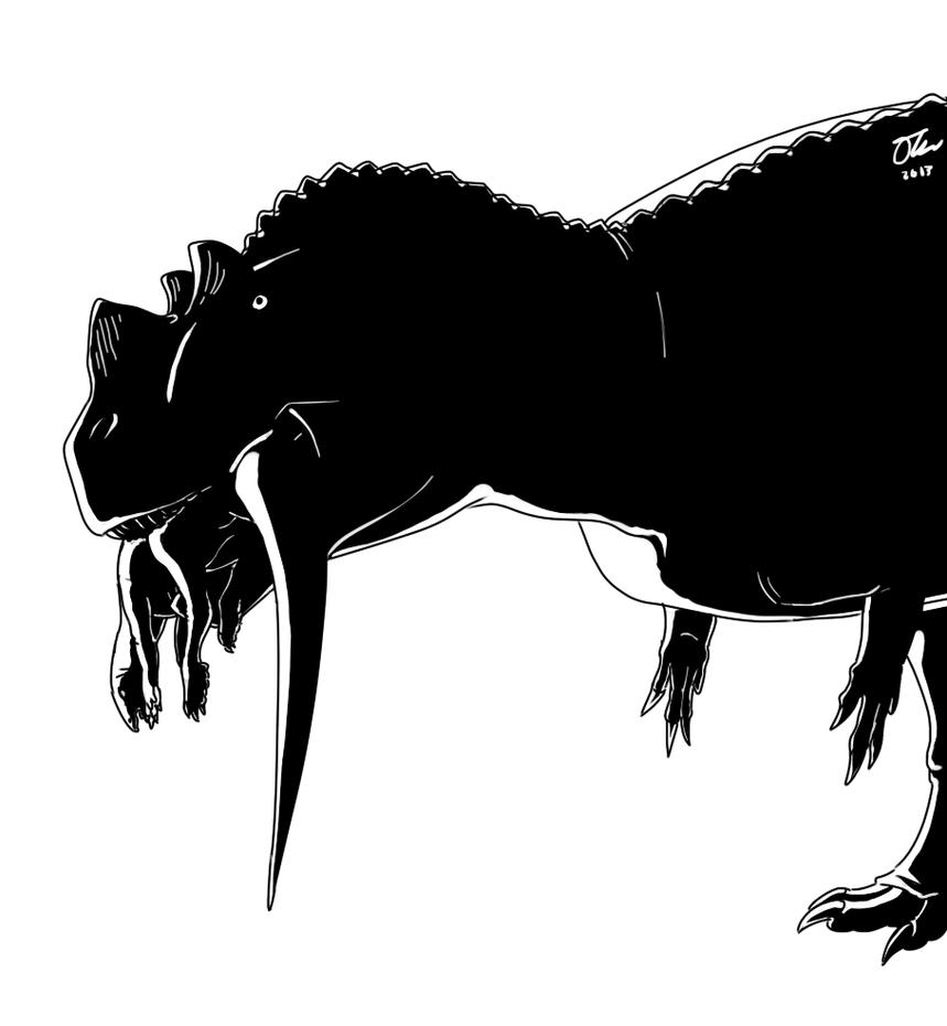 High Contrast Ceratosaurus by StygimolochSpinifer