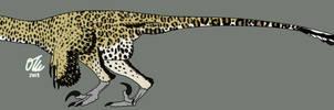 Leopard Deinonychus by StygimolochSpinifer