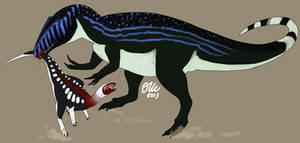 Neovenator and Hypsilophodon