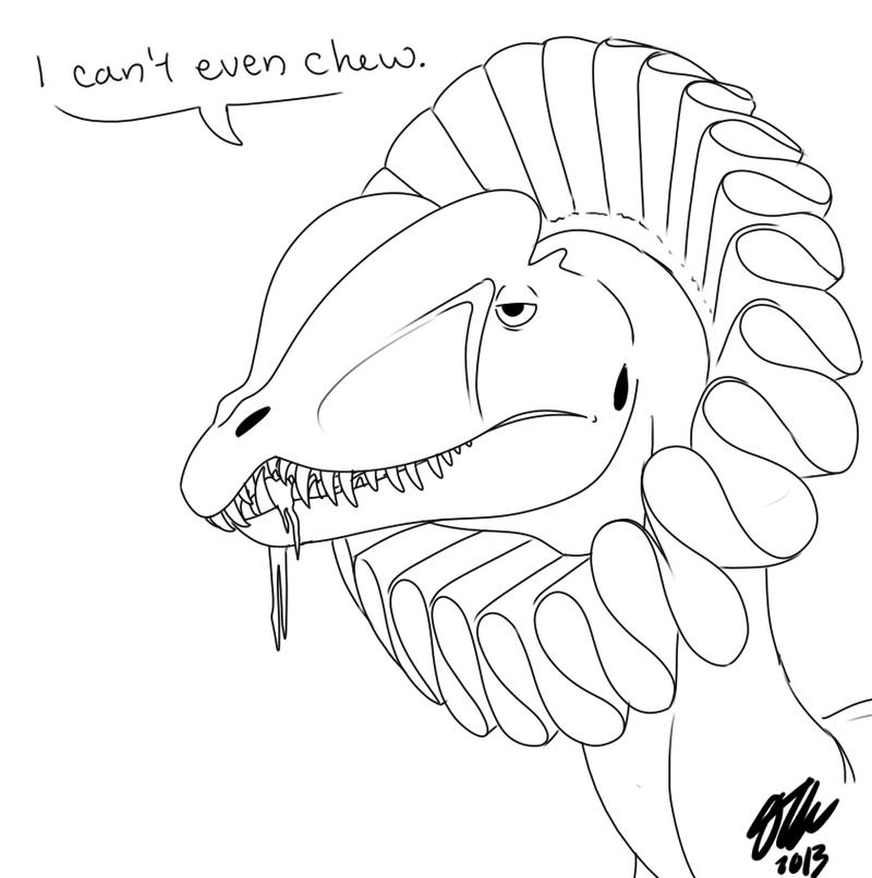 Dilophosaurus Drawing Ruffled dilophosaurus byDilophosaurus Drawing