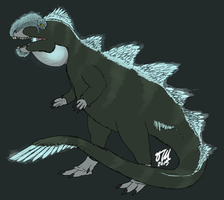 Feathered Godzilla by StygimolochSpinifer
