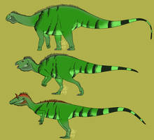 Iguana Colored Dinosaurs by StygimolochSpinifer