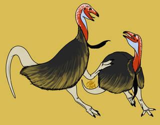Fighting Limusaurus by StygimolochSpinifer