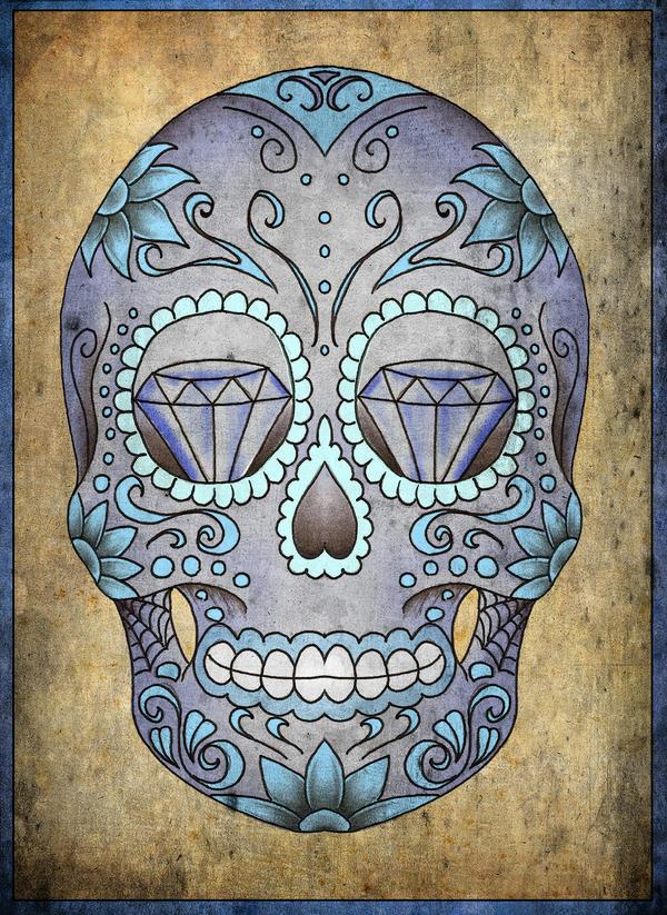Sugarskull - flower tattoo