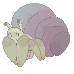 Hermit Crab Friend by 4pawedplayer