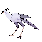 Secretary Bird Pixel (FTU) by 4pawedplayer