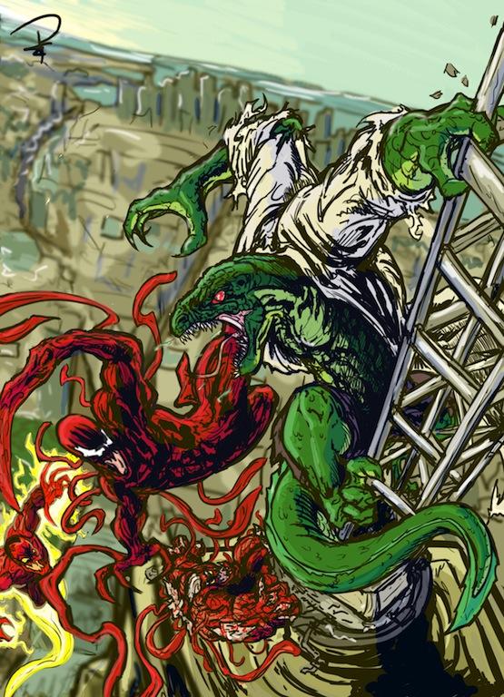 Carnage vs The Lizard by L34DF4N4T1C on DeviantArt