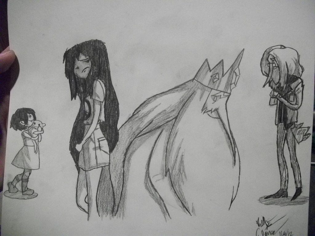 Marceline and the Ice King by The-Fanfic-Mafia