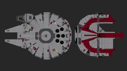 Lego Millennium Falcon And Ebon Hawk