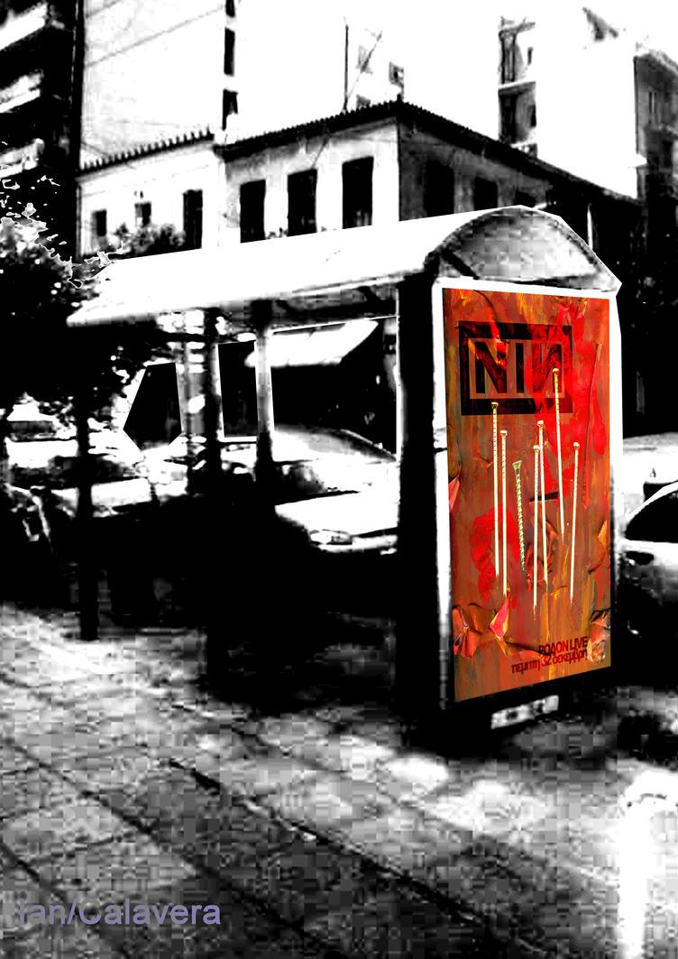 NIN poster bus stop montage by Ian-Calavera