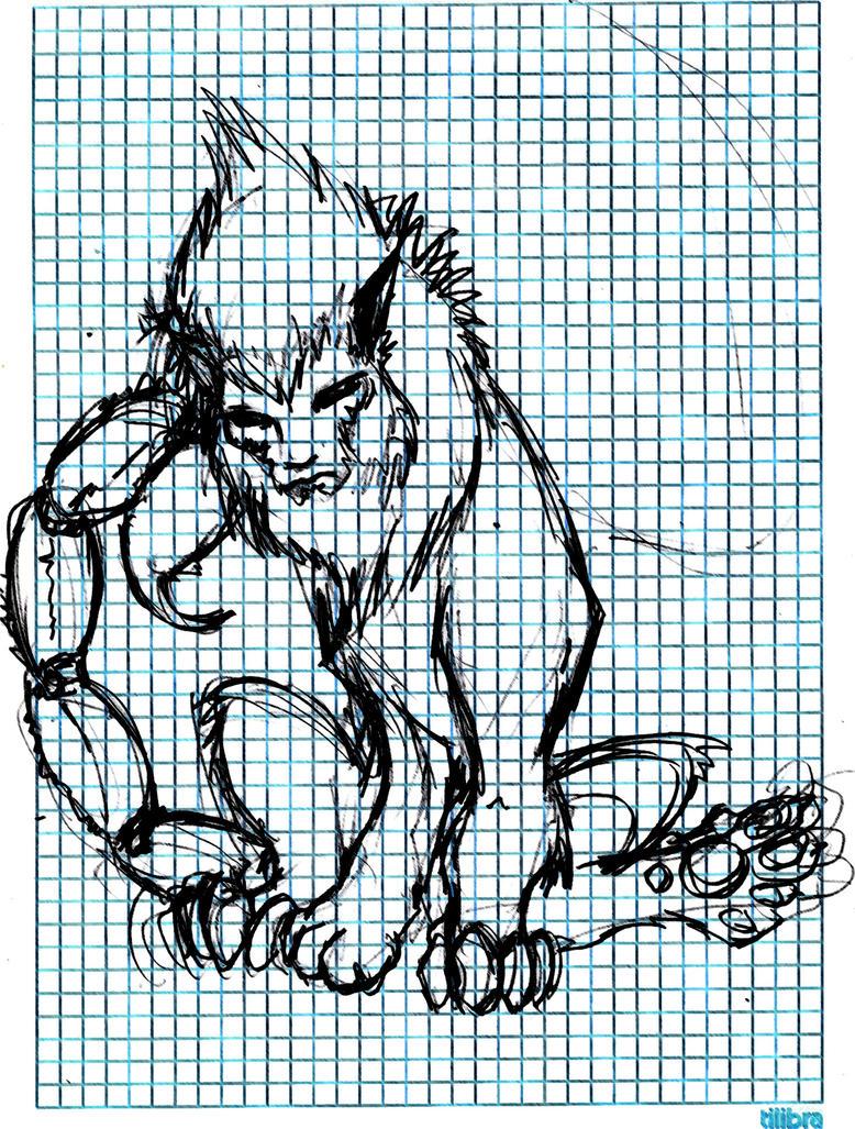 Sketch: Manticore by DAZUMA