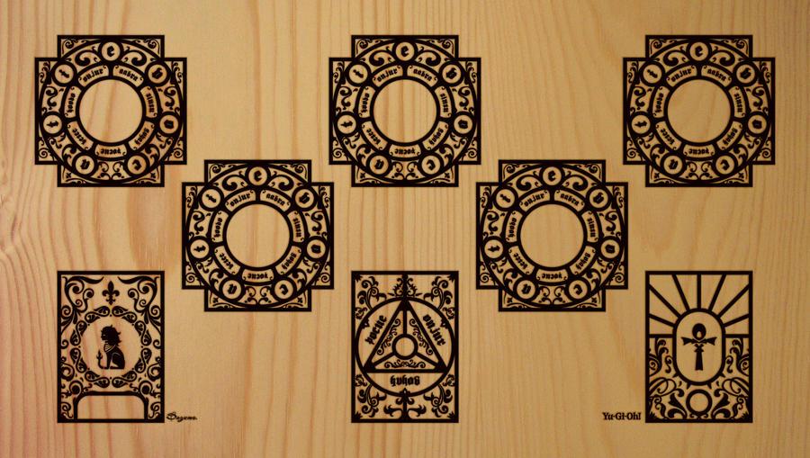 Playmat Yu-gi-oh FULLMONSTER HAZYFLAME DECK by DAZUMA