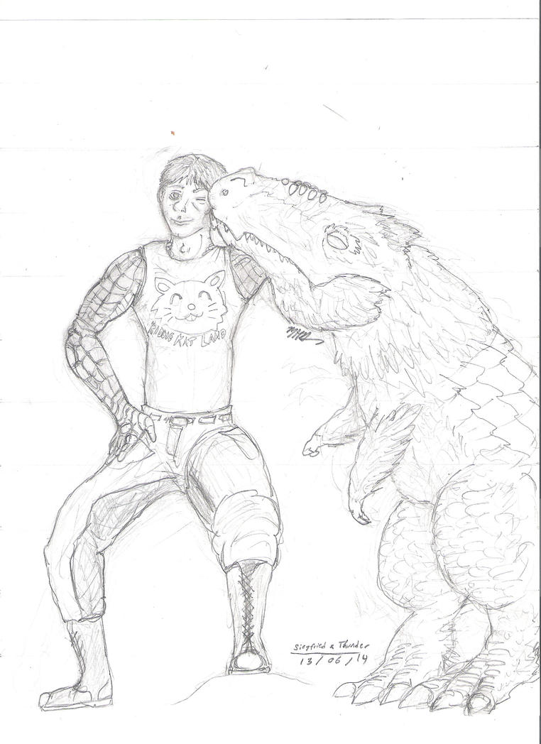 Siegfried and Thunder by Galihan