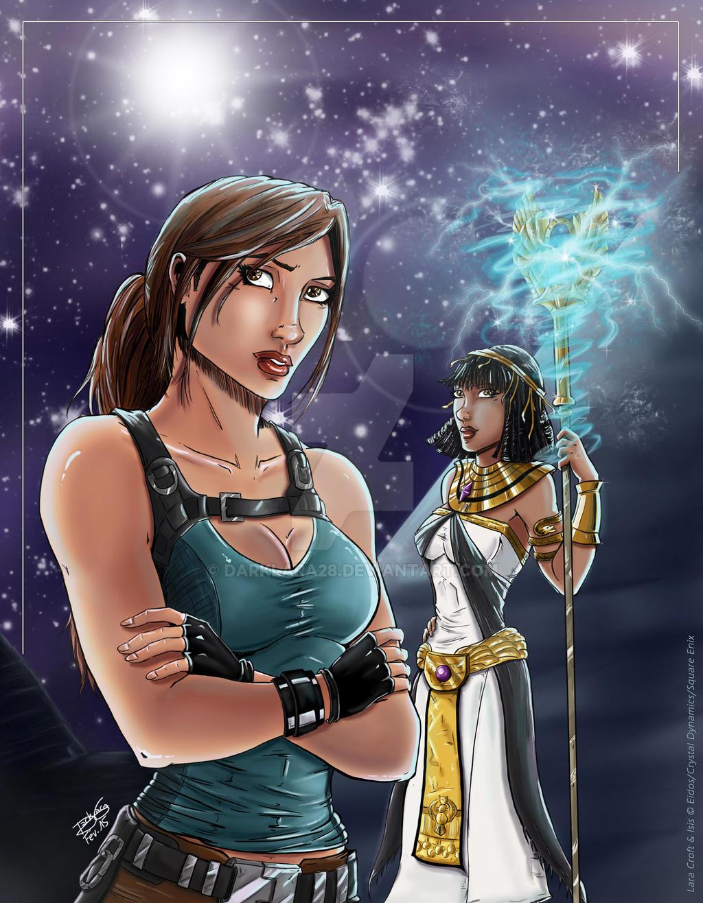 Temple of Osiris - Lara and Isis