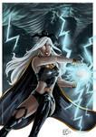 X-men - Storm plays with elements (colo) by DarkLara28