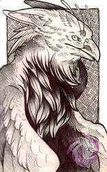 Gryphon Sketchbook doodle by Idlewings