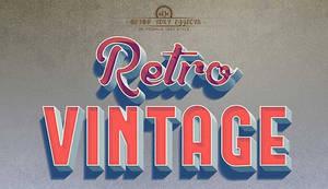 Retro Vintage Text Style Photoshop Template