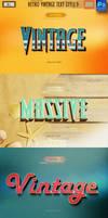 37 Retro Vintage Text Style Bundle