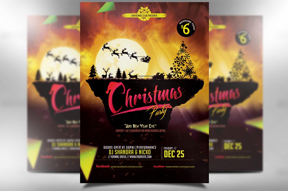 Christmas Flyer Template 2015 by dkasparov